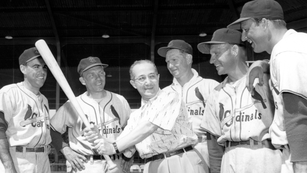 Fred Saigh with Cardinals baseball players